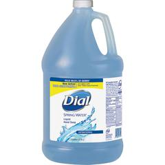 Dial Moisturizing Liquid Hand Soap - Spring Water Scent - 1 gal (3.8 L) - Kill Germs - Hand - Blue - Antimicrobial, Moisturizing - 1 Each