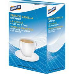 Genuine Joe Liquid Coffee Creamer Singles - French Vanilla Flavor - 0.44 fl oz (13 mL) - 192/Carton