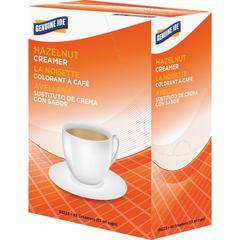 Genuine Joe Liquid Coffee Creamer Singles - Hazelnut Flavor - 0.44 fl oz (13 mL) - 192/Carton