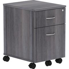 "Lorell Relevance Series Charcoal Laminate Office Furniture - 15.8"" x 19.9"" x 22.9"" - 2 x File Drawer(s), Box Drawer(s) - Finish: Charcoal, Laminate"