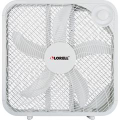 """Lorell 3-speed Box Fan - 3 Speed - Carrying Handle - 21"""" Height x 4.1"""" Width - White"""