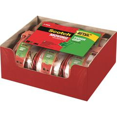 "Scotch® Tough Grip Moving Packaging Tape - 1.88"" Width x 66.60 ft Length - Fiber - Hot-melt, Ready-To-Use - Dispenser Included - 6 / Pack - Clear"