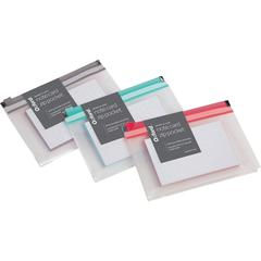 """Oxford Easy Label Note Card Zip Pocket - 3"""" x 5"""" Sheet Size - Assorted - 50 / Pack"""