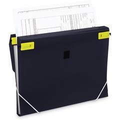 "Samsill Trio 3-in-1 Binder Organizer - 1"" Binder Capacity - Letter - 8 1/2"" x 11"" Sheet Size - 225 Sheet Capacity - 3 x Round Ring Fastener(s) - Polypropylene - Black - 1 Each"