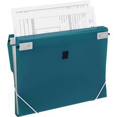 "Samsill Trio 3-in-1 Binder Organizer - 1"" Binder Capacity - Letter - 8 1/2"" x 11"" Sheet Size - 225 Sheet Capacity - 3 x Round Ring Fastener(s) - Polypropylene - Turquoise - 1 Each"