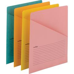 Smead Slash-style File Jackets - 11 pt. Folder Thickness - Aqua, Goldenrod, Pink, Yellow - Recycled - 12 / Pack