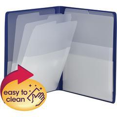 "Smead Organized UP Multi-Pocket Organizer - Letter - 8 1/2"" x 11"" Sheet Size - 50 Sheet Capacity - 8 Pocket(s) - Polypropylene - Blue - 1 Each"