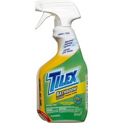 Tilex Bathroom Cleaner - Spray - 0.13 gal (16 fl oz) - Lemon Scent - 12 / Carton - White
