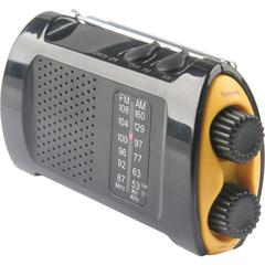 First Aid Only Portable AM/FMTV Crank Radio - AM/FM Presets - Wireless - 3 x AA - Portable