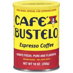 Café Bustelo Espresso Blend Coffee - Espresso - Dark/Bold - 10 oz Per Can - 24 / Carton