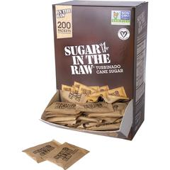 Sugar In The Raw Natural Cane Sugar - Packet - 0 lb (0.2 oz) - Cane Sugar Flavor - Natural Sweetener - 400/Carton