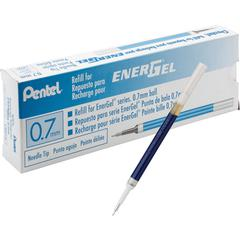 Pentel EnerGel Retractable .7mm Liquid Pen Refills - 0.70 mm, Medium Point - Blue Ink - Smudge Proof, Smear Proof, Quick-drying Ink, Glob-free, Smooth Writing - 12 / Box