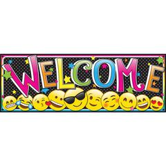 "Ashley Magnetic Emoji Welcome Banner - 6"" Width x 0.1"" Height - Emoji - Assorted"