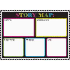 """Ashley Magnetic Story Map Board - 12"""" (1 ft) Width x 17"""" (1.4 ft) Height - Rectangle - 1 Each"""