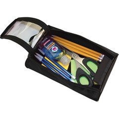 "Advantus Carrying Case for Pencil, Scissors, Pen, Notepad, Hand Sanitizer - Black - 2.3"" Height x 5.5"" Width x 9"" Depth"