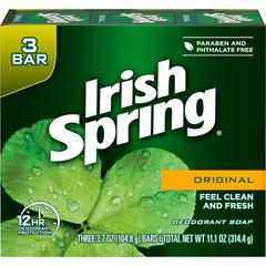 Irish Spring Irish Spring Original Bar Soap - Fresh Clean Scent - 3.75 oz - Green - Odor Neutralizer - 1 Each
