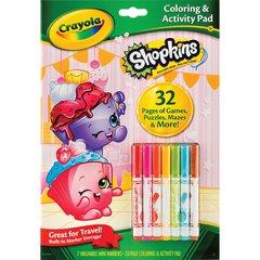 Crayola Shopkins Coloring/Activity Pad Travel Kit - 1 Each - White