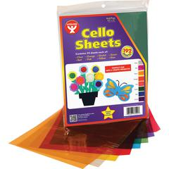 "Hygloss Cello Sheets - Project, Display, Art Project, Craft, Color Recognition, Game - 192 Piece(s) - 11"" x 8.5"" - 24 / Pack - Assorted"