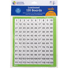 Learning Resources Ages 5+ Laminated 120 Math Boards - Theme/Subject: Learning - Skill Learning: Addition, Cardinality, Subtraction, Rounding, Counting, Number Recognition, Number, Odd Number, Even Nu