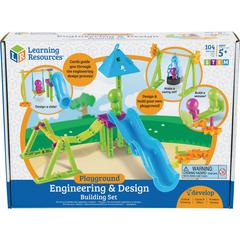 Learning Resources Playground Engineering/Building Set - Skill Learning: Building, Problem Solving, Direction, Visual, Motor Skills, Eye-hand Coordination, Sequential Thinking, Critical Thinking, Spat