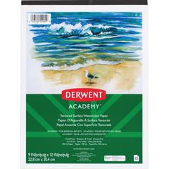 "Mead Textured Surface Watercolor Paper - 15 Sheets - Tape Bound - 9"" x 12"" - Multicolor Paper - 1Each"