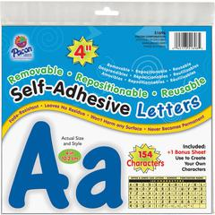 Pacon 154 Character Self-adhesive Letter Set - (Uppercase Letters, Numbers, Punctuation Marks) Shape - Self-adhesive, Removable, Repositionable, Reusable, Fade Resistant, Acid-free, Residue-free, Dama