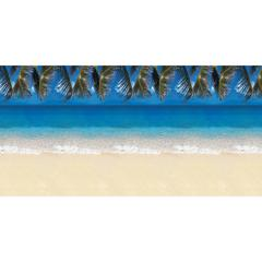 """Fadeless Tropical Beach Design Bulletin Board Papers - Display, Decoration, Bulletin Board, Table Skirting, Classroom - 48"""" x 50 ft - 1 Roll - Assorted"""