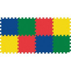 "Pacon WonderFoam Color Tiles - 12"" Length x 12"" Width - Square - Assorted - Foam"