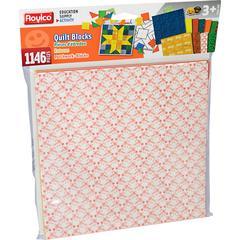 "Roylco Quilt Blocks - Decoration - 8.5"" x 8.5"" - 1146 / Pack - Assorted"