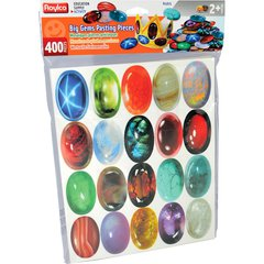"Roylco Big Gems Pasting Pieces - Decoration, Jewelry - 2.5"" x 1.5"" - 400 / Pack - Assorted - Card Stock"