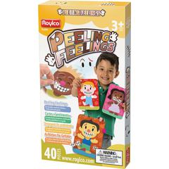 """Roylco Kid Cards Peeling Feelings Stickers - Self-adhesive - Reusable, Laminated, Dry Erase Surface - 5.50"""" Width x 7.75"""" Length - Assorted - 32 / Box"""