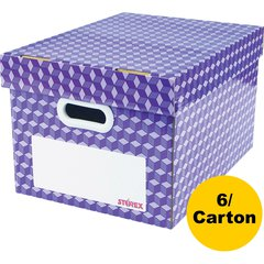 "Storex Corrugated File Tote - External Dimensions: 16.5"" Length x 13.4"" Width x 10.5"" Height - Corrugated Cardboard, Plastic - Assorted Bright - For Marker, File - 6 / Carton"