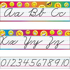 "Trend Alphabet Bulletin Board Sets - Learning, Fun Theme/Subject (Uppercase Letters, Lowercase Letters, Numbers) Shape - 6.25"" Width x 186"" Length - Multicolor - 1 Each"