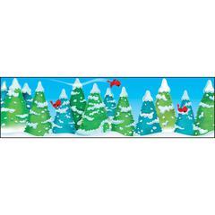 "Trend Winter Wonderland Bolder Border - Winter Theme/Subject - 1 (Border) Shape - Precut, Durable, Reusable - 2.75"" Height x 429"" Width - Multicolor - 1 Pack"