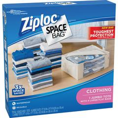 Ziploc® Brand Clothing Space Bag - Clear - 5/Pack - Cloth