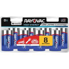 Rayovac Alkaline D Batteries - D - Alkaline - 1.5 V DC