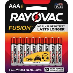 Rayovac Fusion Alkaline AAA Batteries - AAA - Alkaline - 8 / Pack