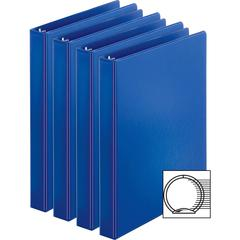 "Business Source Basic Round Ring Binder - 1"" Binder Capacity - Letter - 8 1/2"" x 11"" Sheet Size - 225 Sheet Capacity - 3 x Round Ring Fastener(s) - Inside Front & Back Pocket(s) - Chipboard, Polypropy"