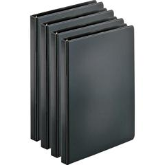 "Business Source Basic Round Ring Binders - 1/2"" Binder Capacity - Letter - 8 1/2"" x 11"" Sheet Size - 125 Sheet Capacity - 3 x Round Ring Fastener(s) - Internal Pocket(s) - Chipboard, Polypropylene - B"