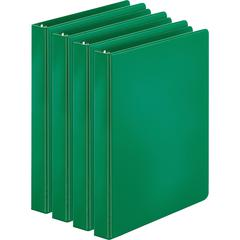 "Business Source Basic Round Ring Binders - 1"" Binder Capacity - Letter - 8 1/2"" x 11"" Sheet Size - 225 Sheet Capacity - 3 x Round Ring Fastener(s) - Inside Front & Back Pocket(s) - Chipboard, Polyprop"
