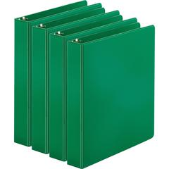 "Business Source Basic Round Ring Binders - 1 1/2"" Binder Capacity - Letter - 8 1/2"" x 11"" Sheet Size - 350 Sheet Capacity - 3 x Round Ring Fastener(s) - Inside Front & Back Pocket(s) - Chipboard, Poly"