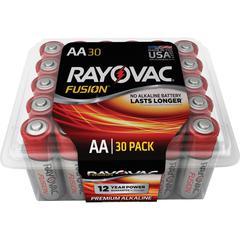Rayovac Fusion Advanced Alkaline AA Batteries - AA - Alkaline - 30 / Pack