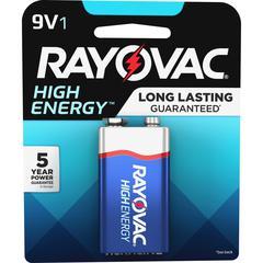 Rayovac Alkaline 9 Volt Battery - Alkaline - 9 V DC - 1 / Pack
