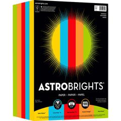 "Astro Inkjet, Laser Print Colored Paper - Letter - 8 1/2"" x 11"" - 24 lb Basis Weight - Smooth - 1000 / Pack - Solar Yellow, Lunar Blue, Re-entry Red, Cosmic Orange, Terra Green"