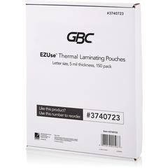 "Swingline GBC EZUse Thermal Laminating Pouches - Sheet Size Supported: Letter 8.50"" Width x 11"" Length - Laminating Pouch/Sheet Size: 5 mil Thickness - Glossy - for Document - UV Resistant, Durable -"