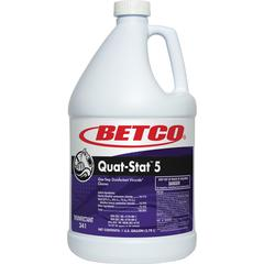 Betco Quat-Stat 5 Disinfectant Gallon - Concentrate Liquid - 1 gal (128 fl oz) - Lavender Scent - 1 Each - Purple