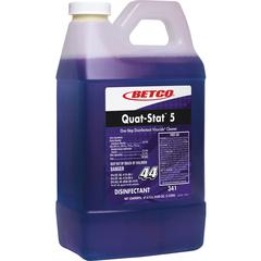 Betco Quat-Stat 5 Disinfectant Gallon - Concentrate Liquid - 0.53 gal (67.63 fl oz) - Lavender Scent - 1 Each - Purple