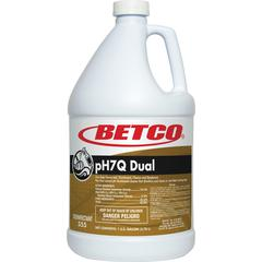 Betco pH7Q Dual Disinfectant Cleaner - Concentrate Liquid - 1 gal (128 fl oz) - Pleasant Lemon Scent - 1 Each - Light Amber