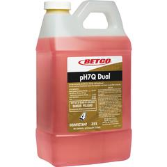 Betco pH7Q Dual Disinfectant Cleaner - Concentrate Liquid - 0.53 gal (67.63 fl oz) - Pleasant Lemon Scent - 1 Each - Light Amber
