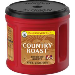 Folgers Country Roast Ground Coffee - Country Roast - 25.1 oz - 1 Each